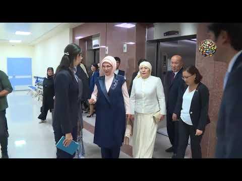 Gururumuz TİKA'nın hastanesini Emine Erdoğan böyle gezdi