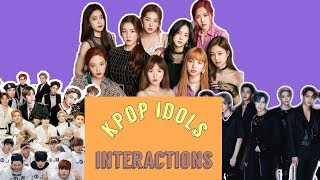 KPOP Idols cute Interactions