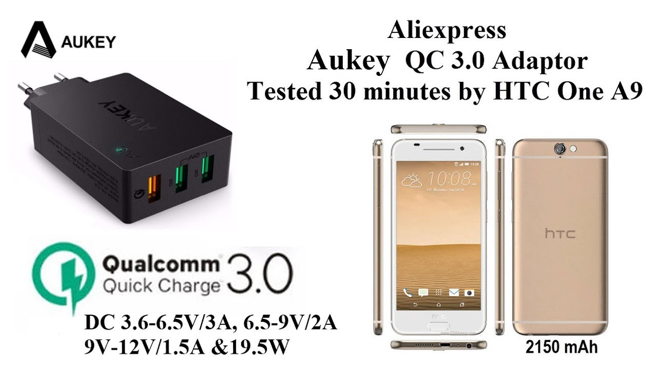 Aukey 3 Ports Qualcomm Quick Charge 0 Aliexpress 30 Minutes Test