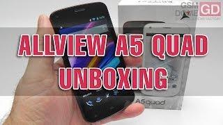 Allview A5 Quad unboxing (Affordable Quad core Phone) - GSMDome.com