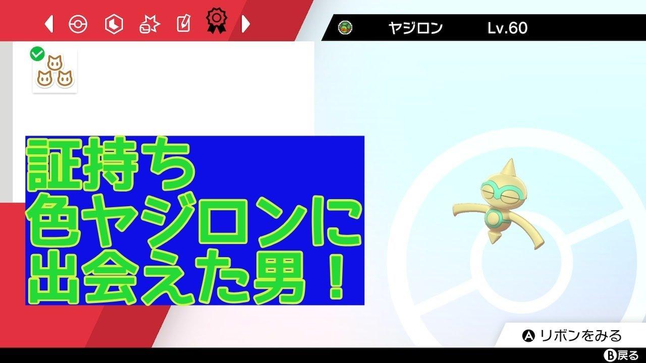 【ポケモン剣盾】証持ち色ヤジロンに出会えた男!【ヤジロン厳選#90】