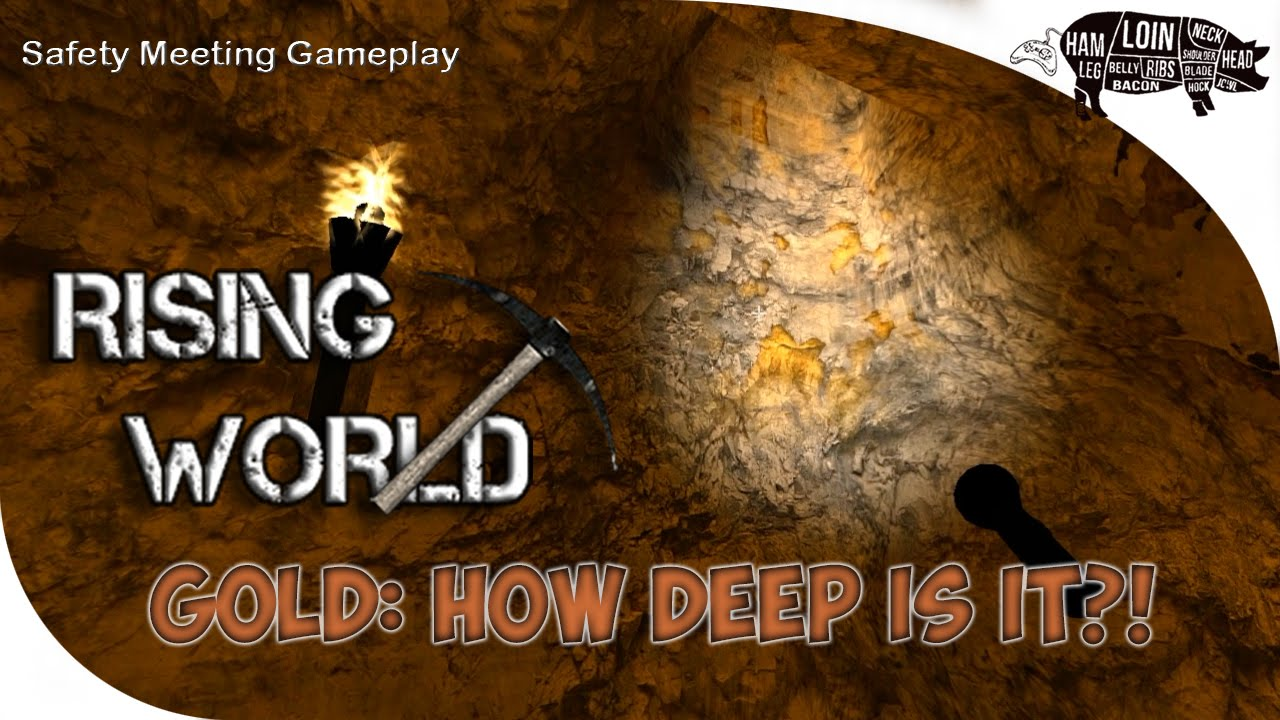 Rising World Tutorial How Deep Is Gold Anyway And Other Ores