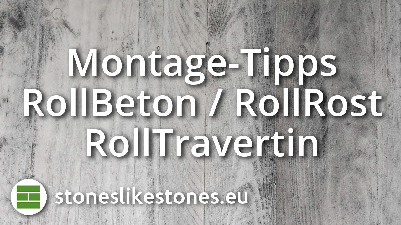 Stoneslikestones Montage Rollbeton Und Rollrost