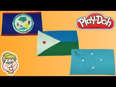 Play-Doh Flags! Belize, Djibouti, and Micronesia!  EWMJ #230