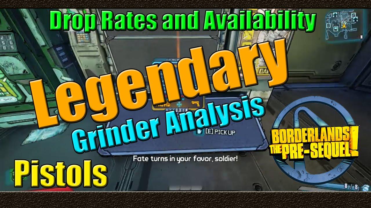 Borderlands the pre sequel grinder analysis legendary pistol
