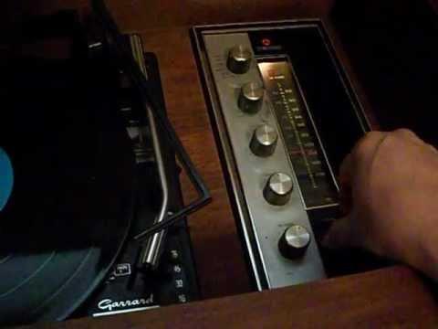 Garrard console record player (Space Disco) - YouTube