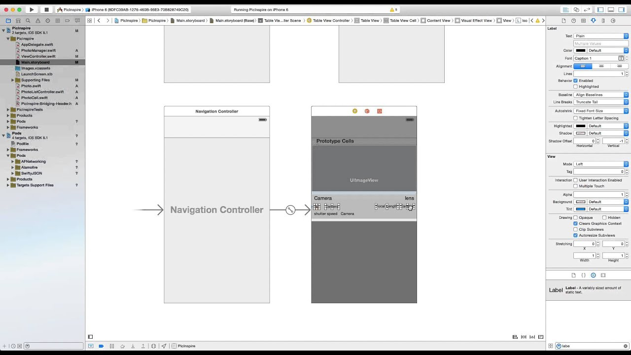 Swift iOS Tutorial: UITableView Visual Blur and autolayout