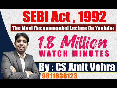 CS Executive & CA Final-Securities Laws-SEBI Act, 1992