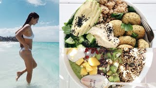 WHAT I EAT IN A DAY #110 TO BE FIT & HEALTHY + nutrition/calories // VEGAN