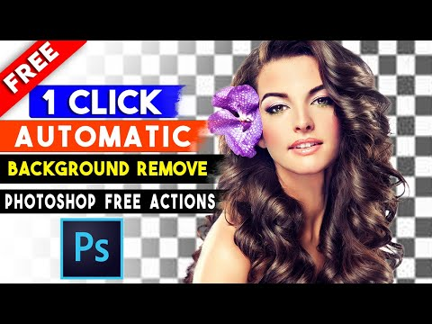 1 Click Automatic Background Remove Photoshop Actions By Shazim Creations⏬