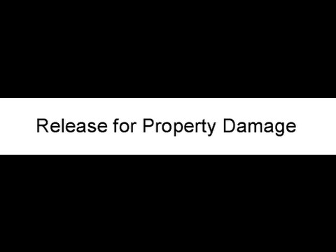Release for Property Damage