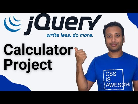 JQuery Bangla Tutorial 9 :  A Calculator Using HTML, CSS, JQuery