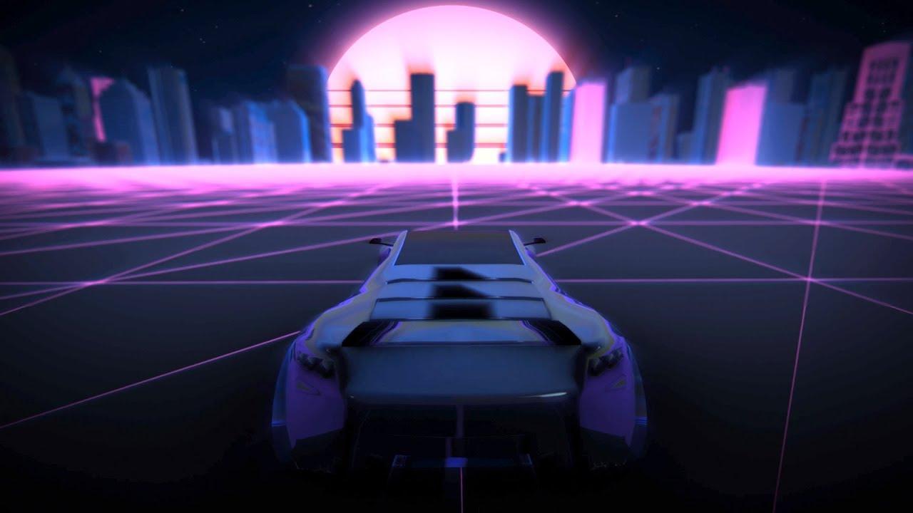 Retro Synthwave Background Animation Loop 2