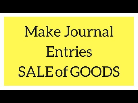 Basic Journal Entry Rule Related To SALE OF GOODS (Hindi Video)