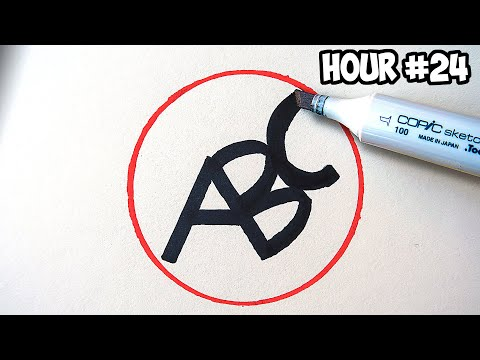I Drew Using Only Letters For 24 Hours Straight...