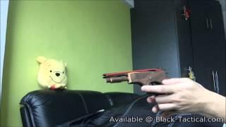 Wooden Rubber Band Gun (pistol)