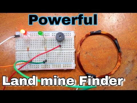 Powerful Land maine finder or metal detector using arduino