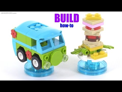 Build with me: LEGO Dimensions Scooby-Doo Mystery Machine & Snack