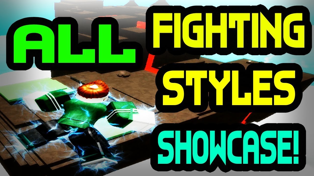 *ALL* FIGHTING STYLES SHOWCASE | One Piece Bizarre Adventures | ROBLOX