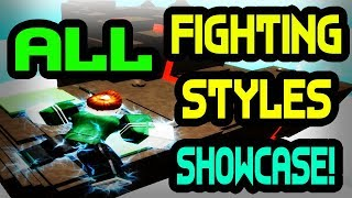 *ALL* FIGHTING STYLES SHOWCASE | One Piece Bizarre Adventures | ROBLOX