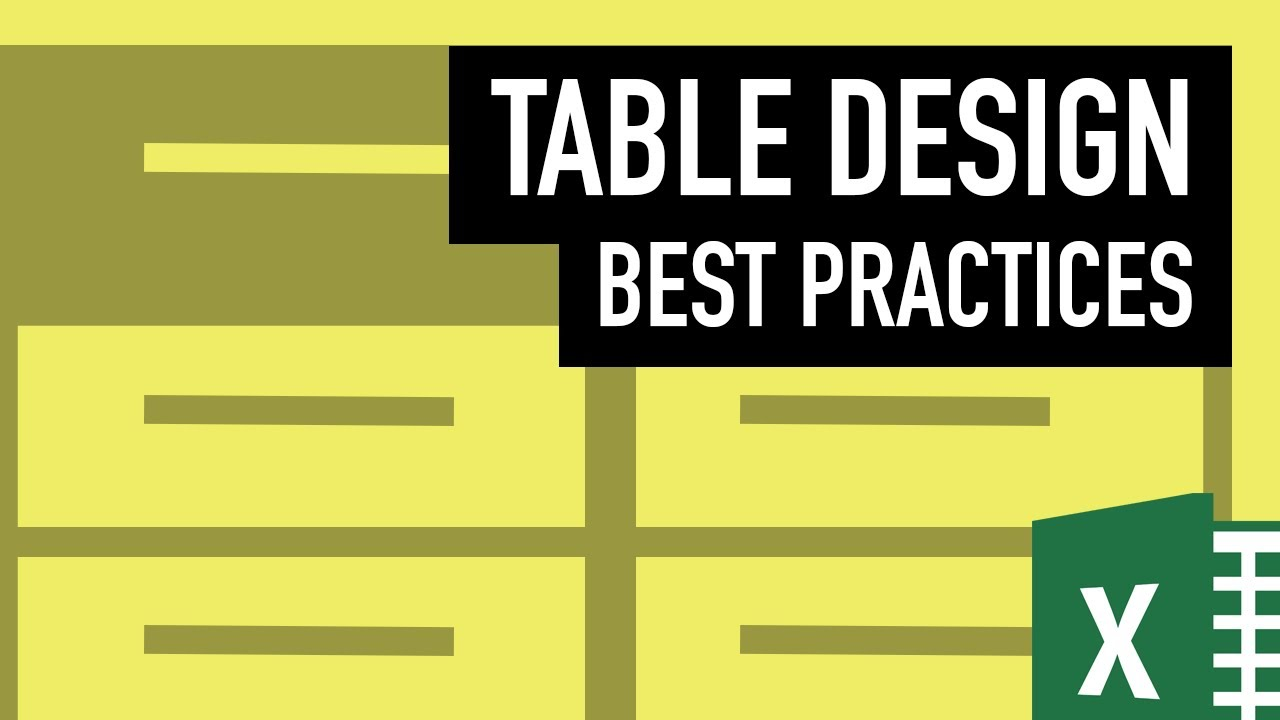 Excel Tables Best Practice To Create Tables For Financial