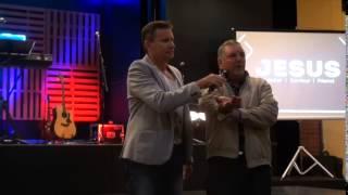 Painful tendonitis tennis elbow healed during prayer - John Mellor Australian Healing Ministry