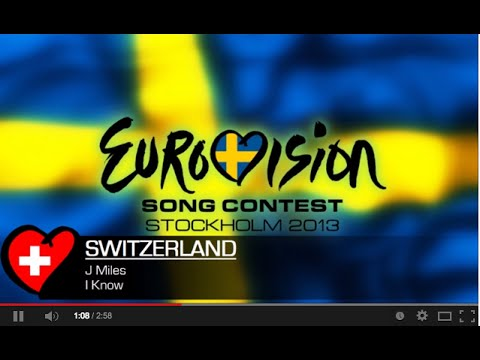 I Know - J Miles. | Eurovision 2013 Swiss Pre-selection entry