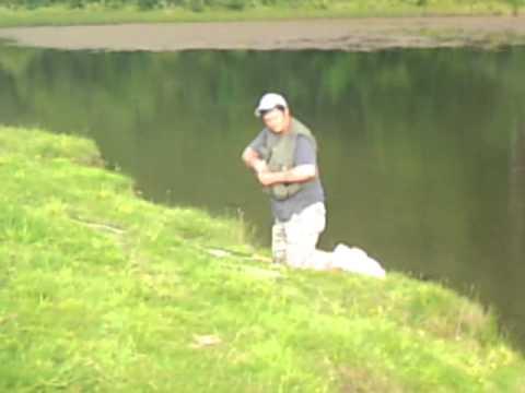 Jamie Fishing Up Troon