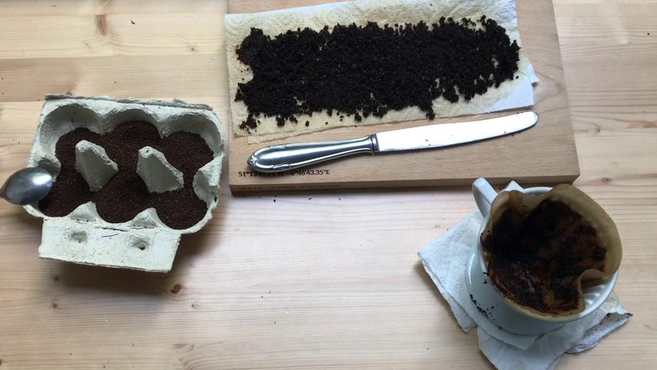 kaffeesatz als d nger f r pflanzen auf dem balkon im hochbeet und im topf youtube. Black Bedroom Furniture Sets. Home Design Ideas