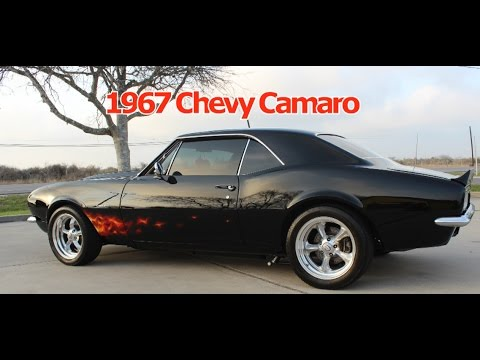 1967 Chevy Camaro, Red Flame Door And The Rest Painted Black, Parady Of  Rollin Stones