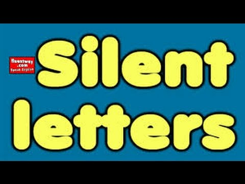 Silent Letters in English 2017