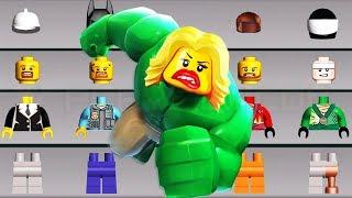 LEGO Juniors Create & Cruise | Lego Batman Wrong Heads, Eyes, Hair Fun Build Truck, Cars