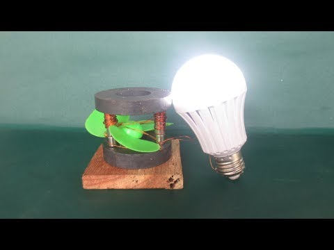 Free energy magnets light bulbs generator - LED light bulbs experiments