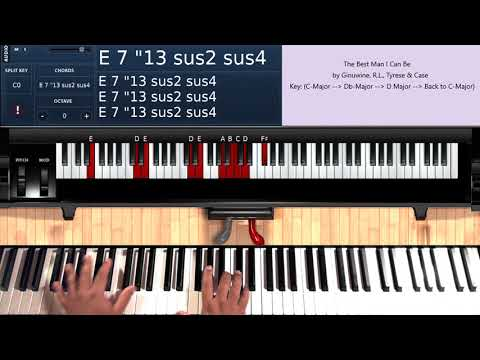 The Best Man I Can Be (by Ginuwiine, R L , Tyrese & Case) - Piano Tutorial