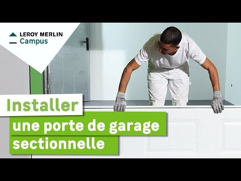 La pose d 39 une porte de garage sectionnelle motoris e doovi - Installer une porte de garage sectionnelle ...