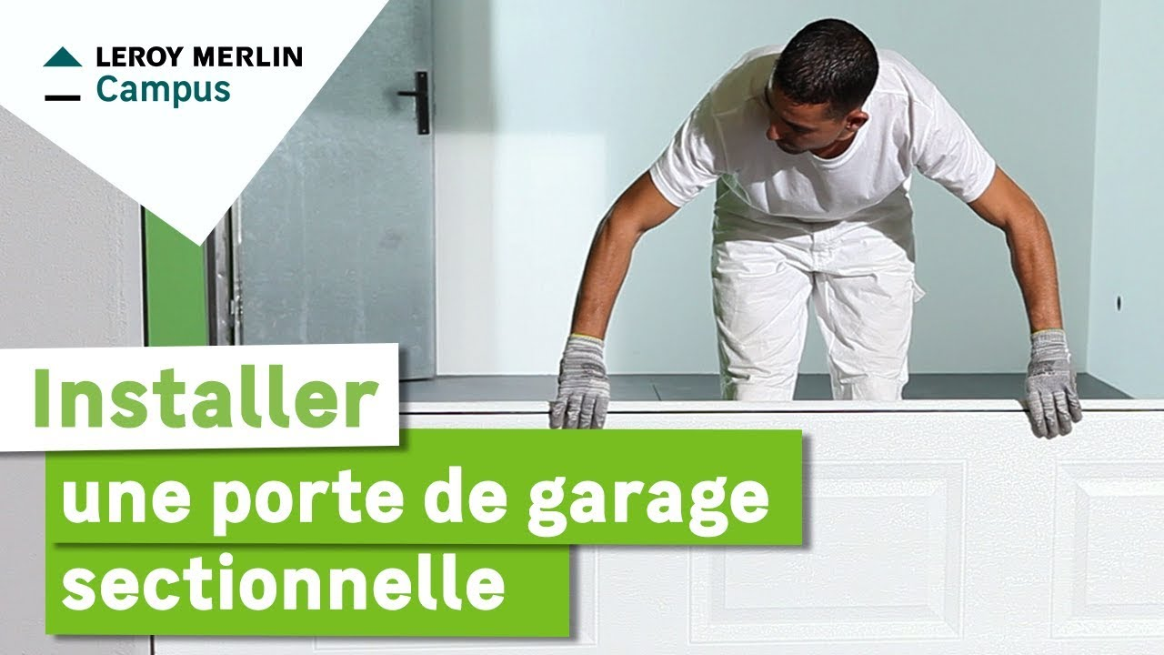 comment poser porte de garage sectionnelle leroy merlin youtube. Black Bedroom Furniture Sets. Home Design Ideas