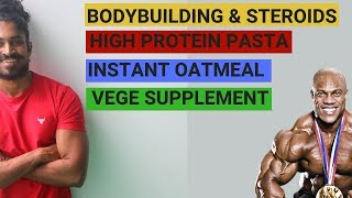 Supplements for a fast healthy result - high protein pasta - instant oatmeal - vege protein