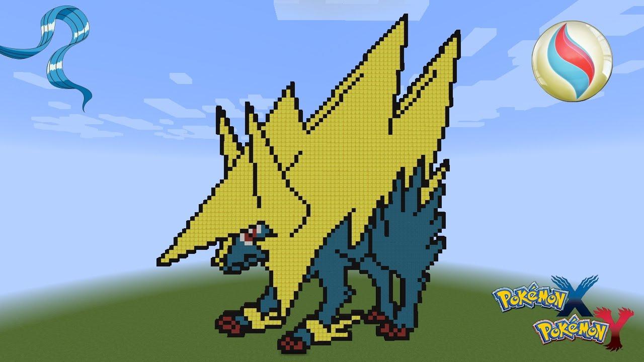 Minecraft pixel art pok mon manectric mega evolution - Mega elecsprint ...