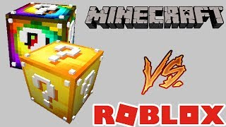 🐷 LUCKY BLOCS MINECRAFT VS ROBLOX - AENH RISA