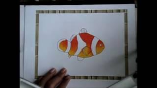 Download Video Cara Mudah Mewarnai Gambar Ikan Badut Menggunakan