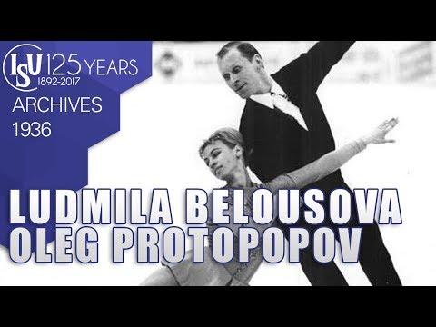 Ludmila Belousova and Oleg Protopopov (SU) - World Championships Prague 1962 - ISU Archives