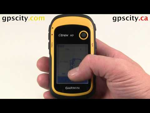 The Waypoint Manager in the Garmin eTrex 10 Handheld GPS with GPSCity