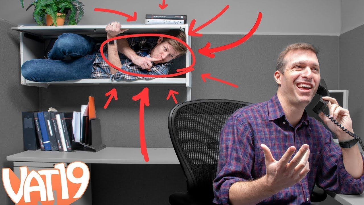 This Guy Hid from His Boss All Day (You'll Never Guess How He Did It)