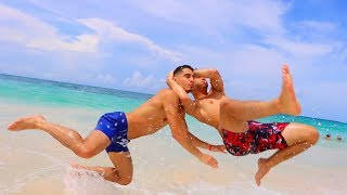 WWE MOVES AT THE BEACH 4