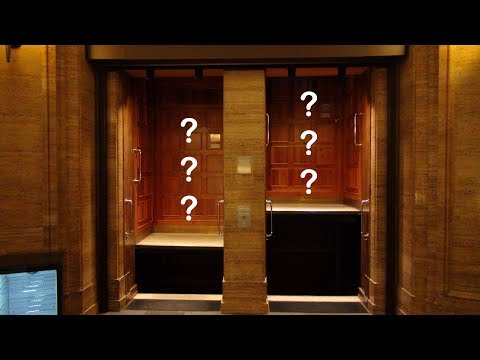 Oh my gosh!  Who is riding the paternoster elevator?