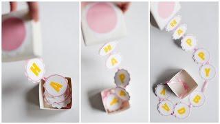 How to Make - Surprise Box Birthday Gift - Step by Step DIY | Pudełko Niespodzianka Urodziny