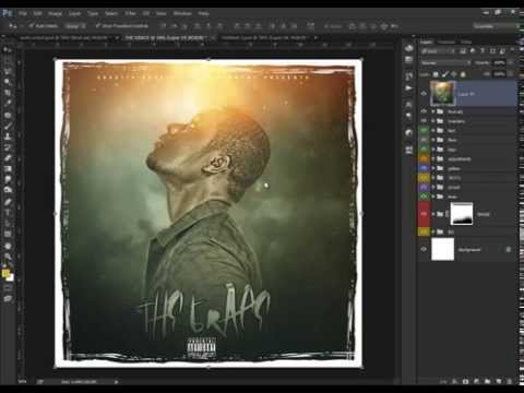 Photoshop CC Tutorial  How to Make a Mixtape Cover THE GRACE