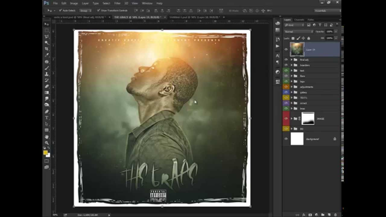 Cc Tutorial Photoshop Cc Tutorial How To Make A Mixtape Cover The Grace