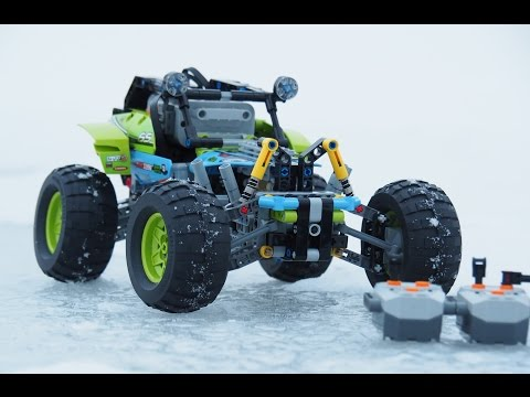 Full motohrized Lego 42037 offroader - RC steering and shifting between two gears