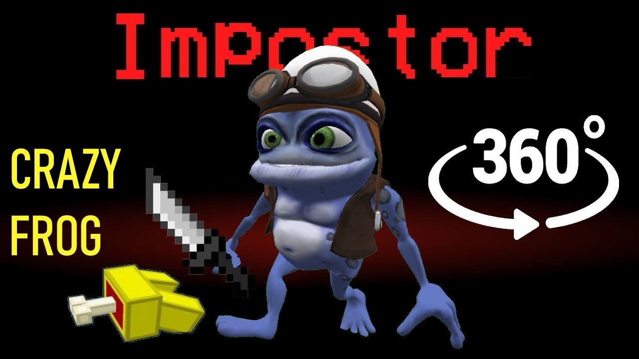 If CRAZY FROG was the Impostor 🚀 Among Us Minecraft 360°